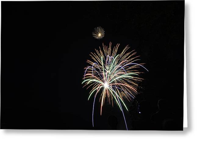 Labor Day Fireworks Greeting Card by Angelo Marcialis