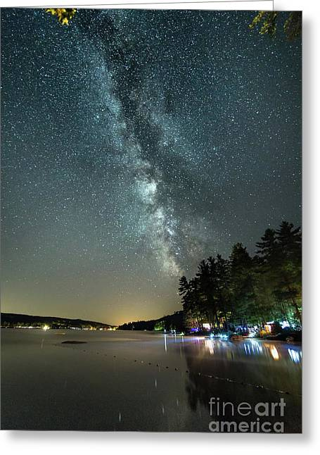 Labor Day Milky Way In Vacationland Greeting Card