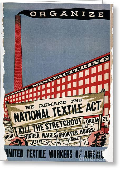 Smokestack Greeting Cards - Labor Poster, 1935 Greeting Card by Granger