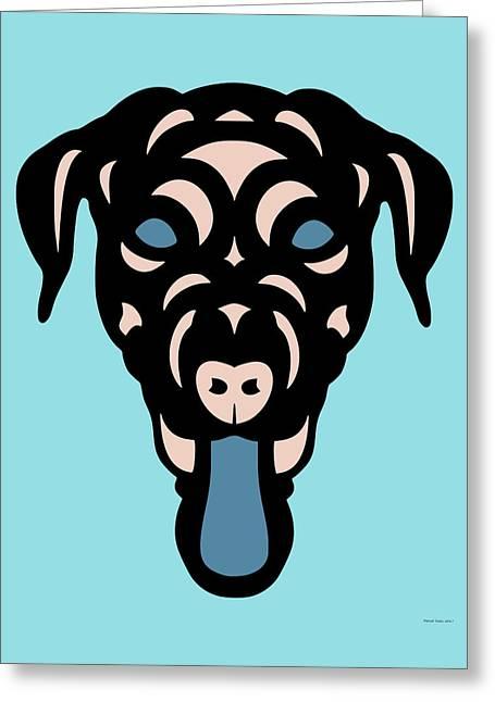 Labrador Dorianna - Dog Design - Island Paradise, Pale Dogwood,  Niagara Blue Greeting Card