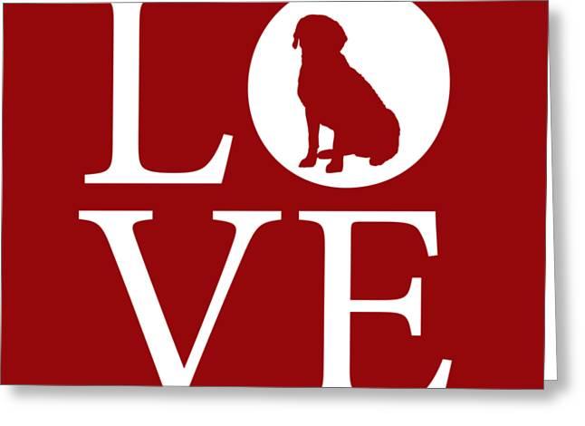Labrador Love Red Greeting Card