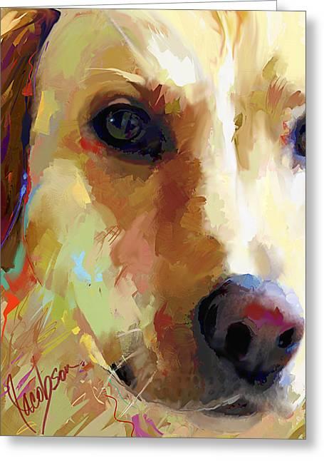 Labrador Retriever 2 Tall Greeting Card