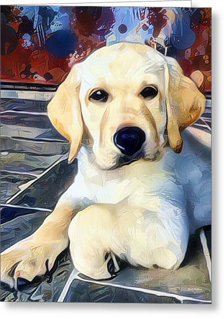 Labrador Retriever Painting Greeting Card by Scott Wallace