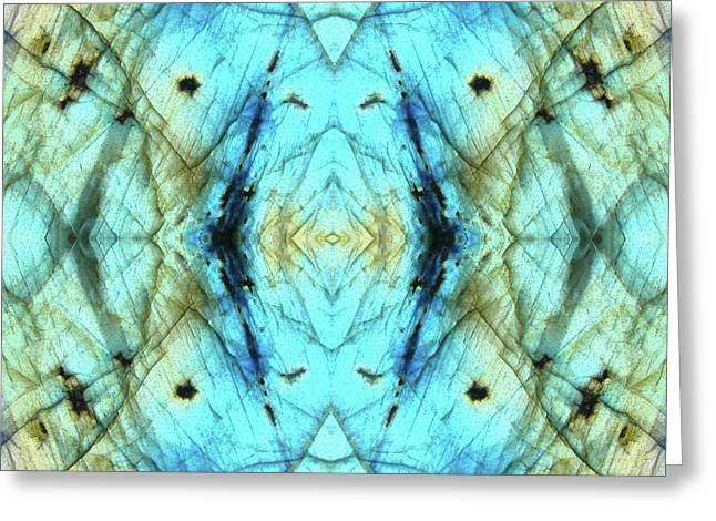 Labradorite Tile Greeting Card by Rich Beer