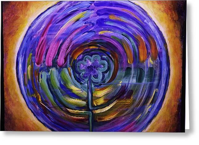 Mandala Labyrinth Greeting Card by Sage Boyd