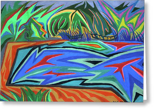 Lac Aura Greeting Card by Robert SORENSEN