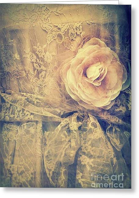 Lace Dress Greeting Card by Mythja Photography