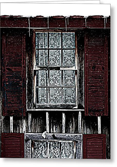 Laced Window Greeting Card