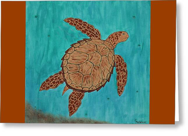 Lacey's Sea Turtle Greeting Card by Susie WEBER