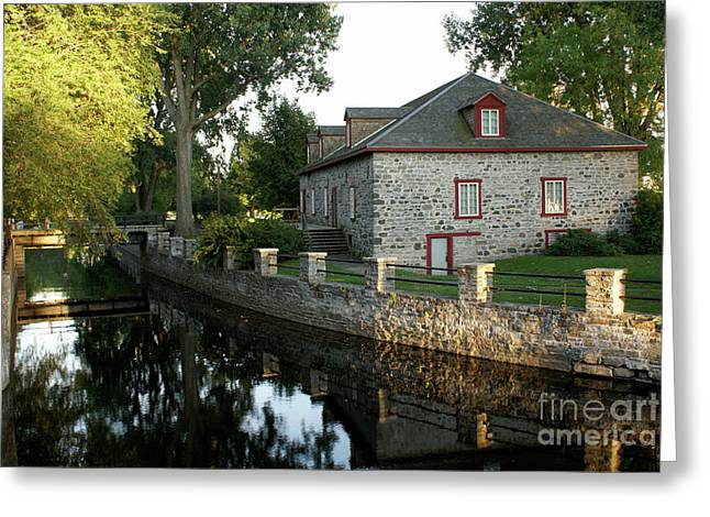 Lachine Canal Montreal Quebec Greeting Card by John  Mitchell