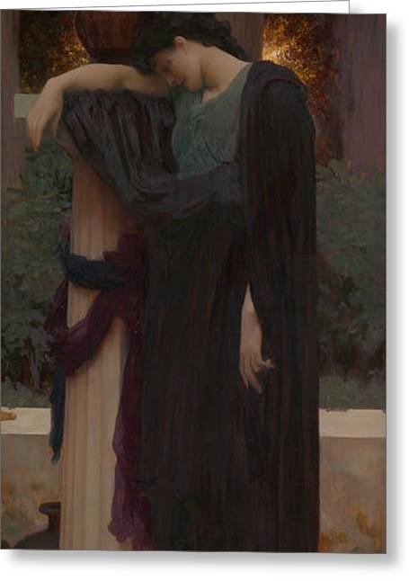 Lachrymae Greeting Card by Frederic Leighton