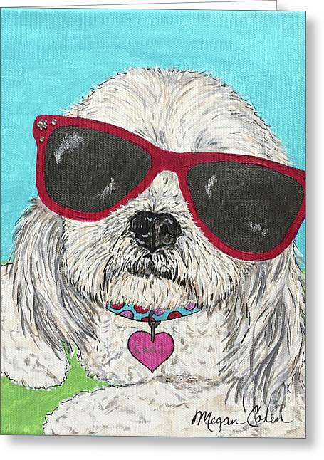 Laci With Shades Greeting Card