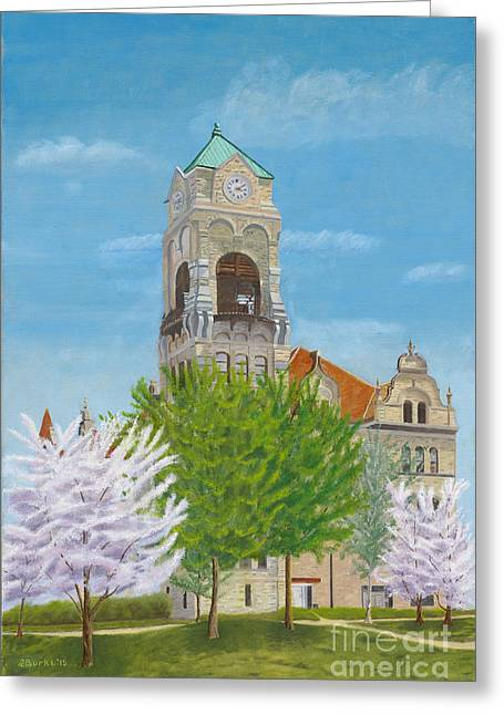 Lackawanna County Courthouse Greeting Card by Austin Burke