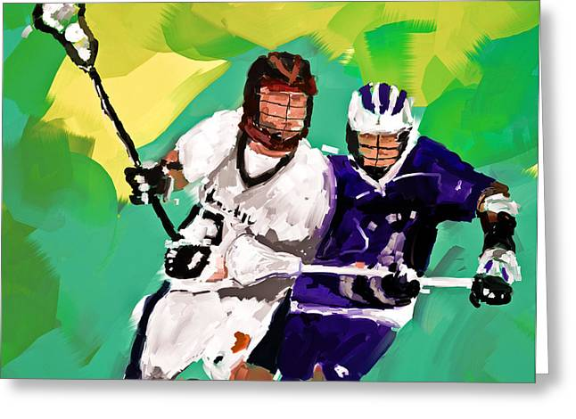 Scott Melby Greeting Cards - Lacrosse I Greeting Card by Scott Melby