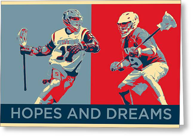 Lacrosse Pop Art Greeting Card