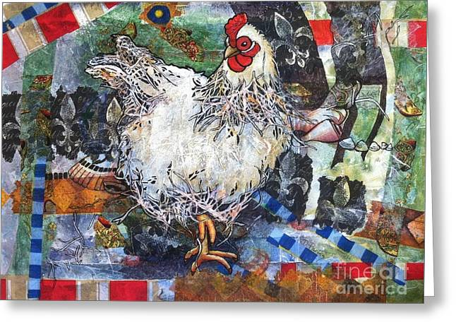 Lacy Chicken Greeting Card