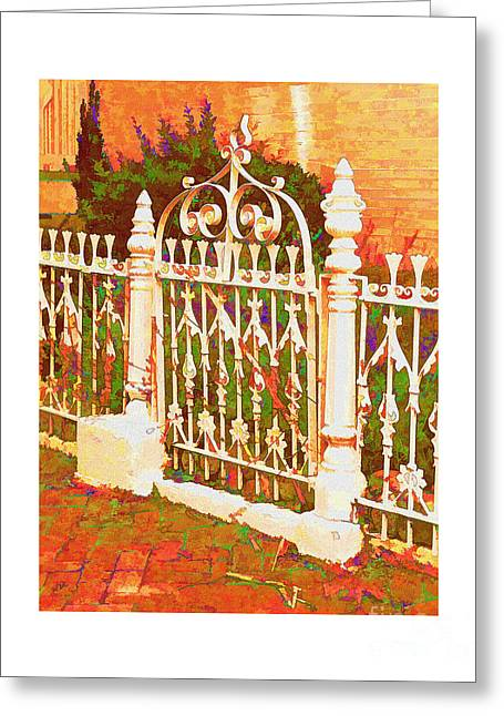 Lacy Garden Gate Greeting Card