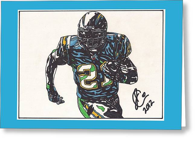Ladainian Tomlinson 1 Greeting Card by Jeremiah Colley