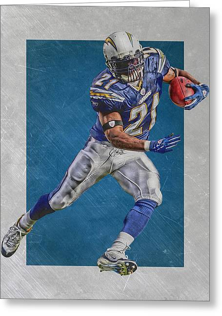 Ladainian Tomlinson San Diego Chargers Art Greeting Card