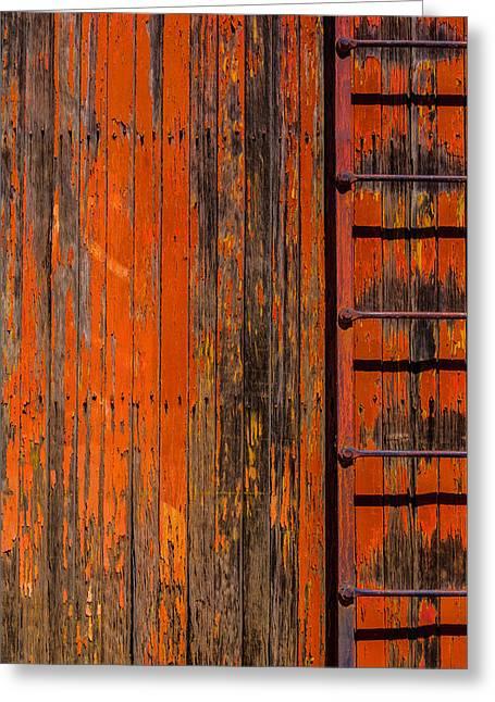Ladder On Boxcar Greeting Card