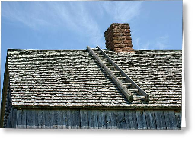 Ladder - Shingled Roof - Maison Doucet Greeting Card by Nikolyn McDonald