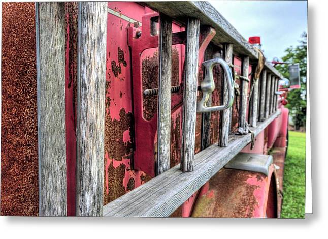Ladders Greeting Card by JC Findley