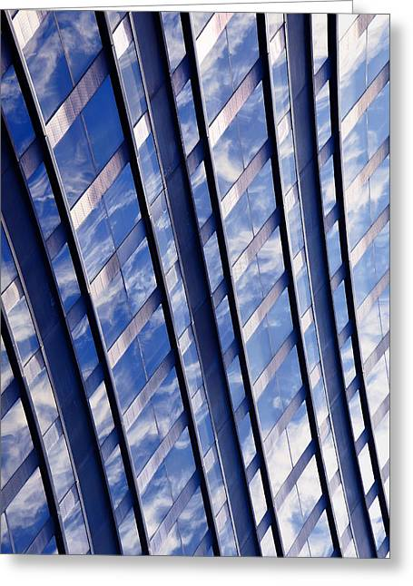 Ladders Greeting Card by KM Corcoran