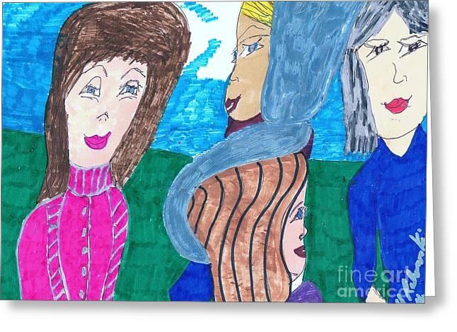 Ladies Day Greeting Card by Elinor Rakowski