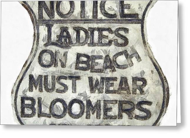 Ladies Must Wear Bloomers Greeting Card by Edward Fielding