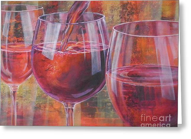 Ladies Night Out Greeting Card by Carol McIntyre