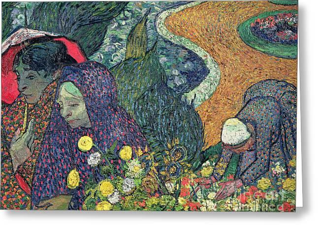 Ladies Of Arles Greeting Card by Vincent Van Gogh