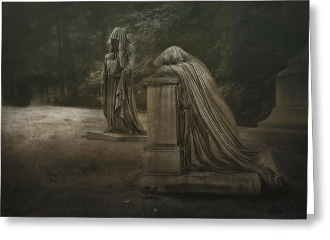 Ladies Of Eternal Sorrow Greeting Card by Tom Mc Nemar