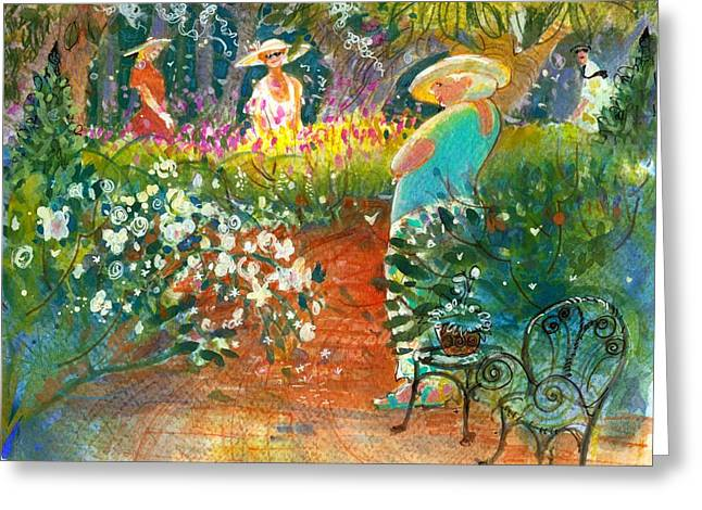 Ladies Of The Garden Greeting Card by Gertrude Palmer