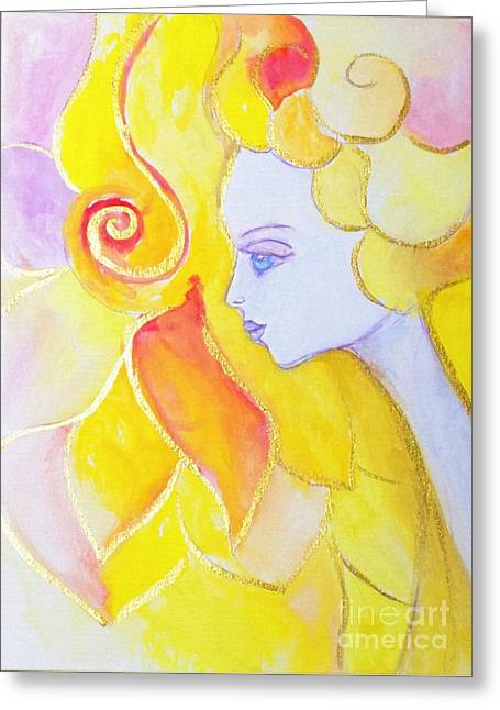 Lady Autumn Greeting Card by Garden Of Delights