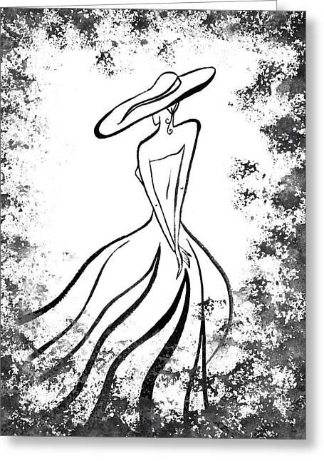 Lady Charm Greeting Card by Irina Sztukowski