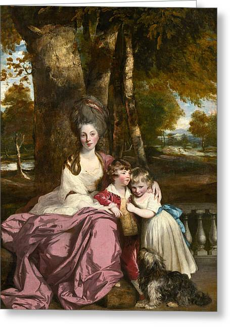Lady Elizabeth Delme And Her Children Greeting Card