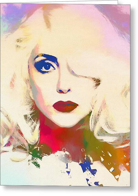 Lady Gaga Greeting Card by Dan Sproul