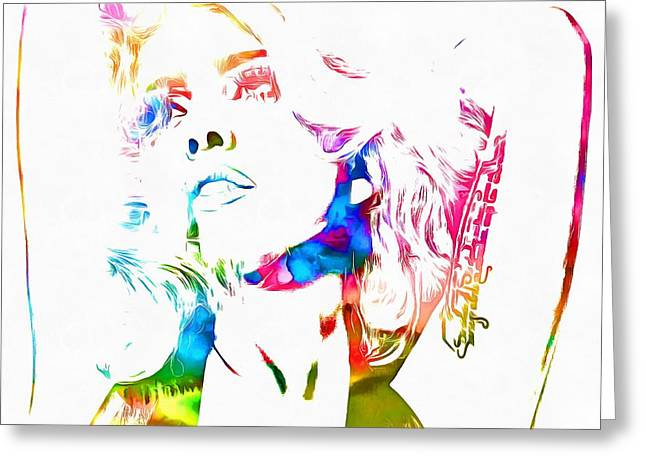 Lady Gaga Watercolor Greeting Card by Dan Sproul