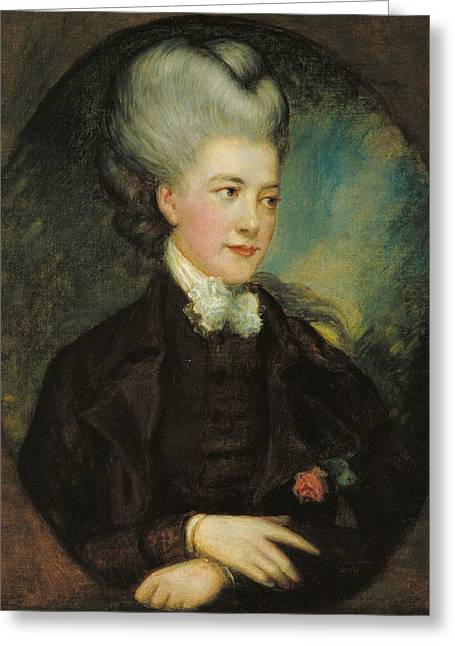 Lady Georgiana Poyntz Countess Spencer Greeting Card by Thomas Gainsborough