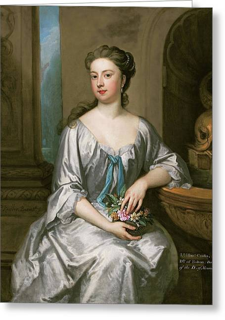 Lady Henrietta Crofts, Duchess Of Bolton Greeting Card by Godfrey Kneller