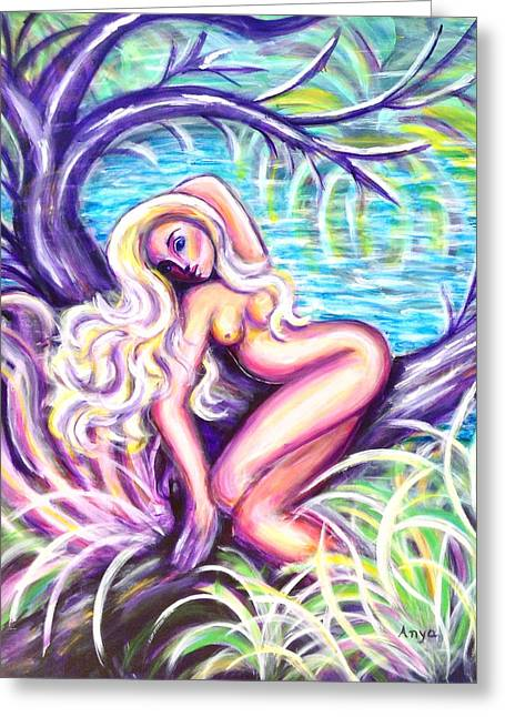 Lady In A Tree Greeting Card