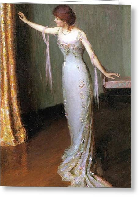 Lady In An Evening Dress Greeting Card by Lilla Cabot