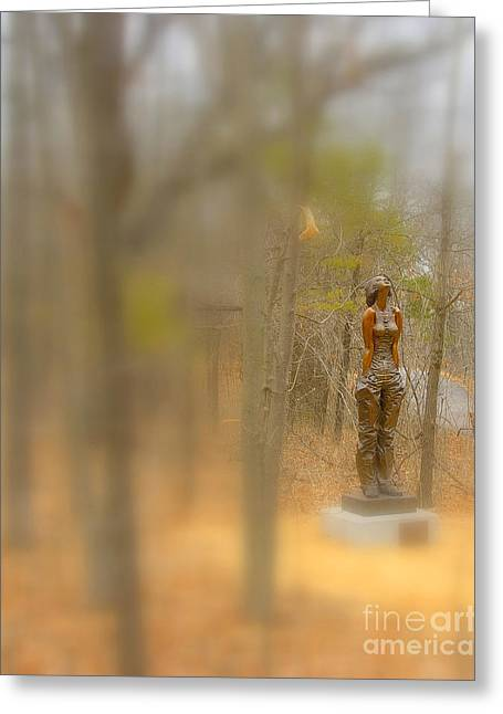 Lady In Bronze Greeting Card