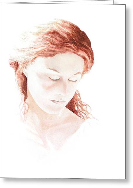 Lady In Light Greeting Card