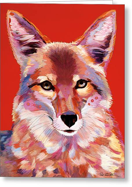 Lady In Red Greeting Card by Bob Coonts