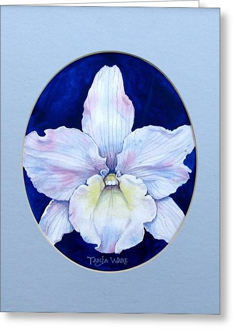 Lady In White Greeting Card by Tanja Ware