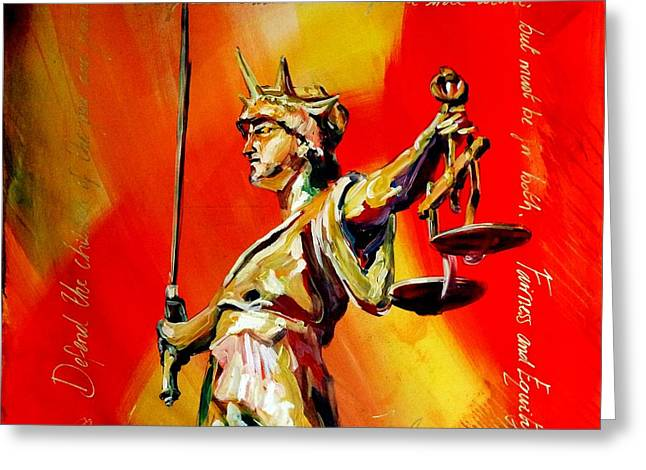 Lady Justice 0120 Greeting Card