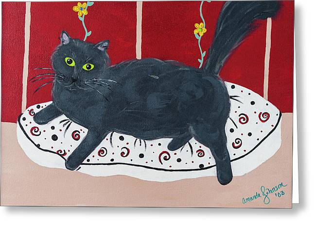 Lady Kitty Greeting Card