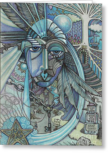Lady Liberty - Don't Talk To Me About Love... Greeting Card