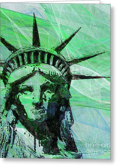 Lady Liberty Head 20150928p100 Greeting Card by Wingsdomain Art and Photography
